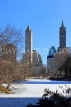 USA, New York, MANHATTAN, Central Park, Winter scene, US4482JPL