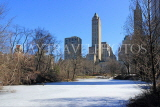 USA, New York, MANHATTAN, Central Park, Winter scene, US4484JPL