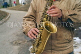 USA, New York, MANHATTAN, Central Park, street entertainer, Sax Player, US4075JPL
