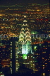 USA, New York, MANHATTAN, Chrysler building, night view, US120JPL