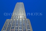 USA, New York, MANHATTAN, Empire State Building, against blue sky, US3253JPL