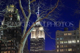 USA, New York, MANHATTAN, Empire State Building, night view, US4587JPL