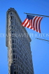 USA, New York, MANHATTAN, Flatiron building and US flag, US2808JPL