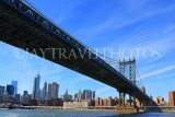USA, New York, MANHATTAN, Manhattan Bridge, and skyline, US4581JPL