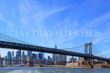 USA, New York, MANHATTAN, Manhattan Bridge, and skyline, US4583JPL