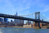 USA, New York, MANHATTAN, Manhattan Bridge, and skyline, US4584JPL