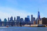 USA, New York, MANHATTAN, Manhattan Bridge, and skyline, US4585JPL