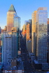 USA, New York, MANHATTAN, Midtown buildings, architecture, dusk, US4590JPL