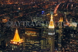 USA, New York, MANHATTAN, city view at night, aerial, US4530JPL
