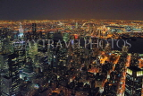 USA, New York, MANHATTAN, city view at night, aerial, US4531JPL