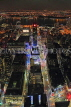 USA, New York, MANHATTAN, city view at night, aerial, US4535JPL