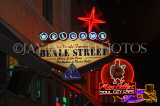USA, Tennessee, MEMPHIS, Beale Street, neon lit signs, US4393JPL