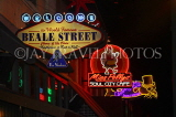 USA, Tennessee, MEMPHIS, Beale Street, neon lit signs, US4394JPL