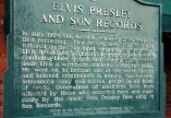 USA, Tennessee, MEMPHIS, Sun Studio, Elvis Presley's info sign, US4388JPL