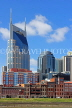 USA, Tennessee, Nashville, skyline, and AT&T 'Batman' building, US4331JPL