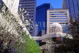 USA, Texas, DALLAS, downtown architecture and Spring blossom, DAL150JPL
