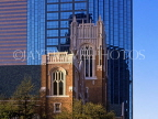 USA, Texas, DALLAS, downtown skyscrapers, architecture and First Methodist Church, DAL55JPL
