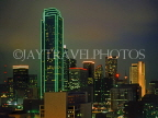 USA, Texas, DALLAS, night skyline and NCMB Texas Plaza Tower, DAL107JPL