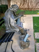 USA, Texas, DALLAS, outdoor scupltures, 'Getting Involved' by J Seward Johnson Jr, DAL71JPL