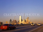 USA, Texas, DALLAS, skyline, view from highway, DAL25JPL