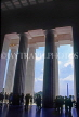USA, WASHINGTON DC, Lincoln Memorial, view from interior, WAS405JPL