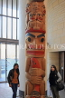 USA, WASHINGTON DC, National Museum of the American Indian, Totem pole, tourists, US4726JPL