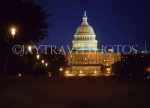 USA, WASHINGTON DC, US Capitol building, night view, WAS397JPL