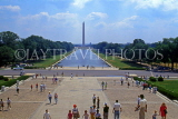USA, WASHINGTON DC, Washington Monument and Reflecting Pool, view from Lincoln Memorial, US4006JPL