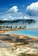 USA, Wyoming, YELLOWSTONE NATIONAL PARK, hot springs and viewing platform, WYO48JPL