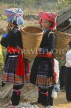 VIETNAM, Lao Cai province, Sapa, Tam Duong market, Hmong tribe girls with baskets, VT629JPL