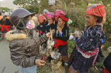 VIETNAM, Lao Cai province, Sapa, Tam Duong market, Hmong women selling chickens, VT630JPL