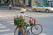 VIETNAM, Saigon (Ho Chi Minh City), bicycle fruit vendor with oranges, VT711JPL