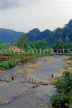 VIETNAM, Son La province, river scene and children bathing, VT647JPL