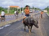VIETNAM, Tay Ninh, boy riding buffalo, VT120JPL