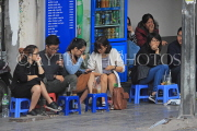 Vietnam, HANOI, Old Quarter, young people socialising at coffee shop, VT1332JPL
