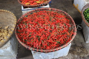 Vietnam, HANOI, outdoor and covered market, chillies, VT1087JPL
