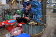 Vietnam, HANOI, outdoor and covered market, food stall, VT1092JPL