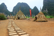 Vietnam, Ninh Binh, TRANG AN, Kong Skull Island movie, reconstrcuted set, VT2283JPL