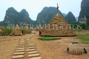 Vietnam, Ninh Binh, TRANG AN, Kong Skull Island movie, reconstrcuted set, VT2285JPL