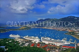 Virgin Islands (US), ST THOMAS, Charlotte Amalie, harbour and cruise ships, CAR1149JPL